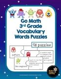 Go Math 3rd Grade Vocabulary Words Puzzles