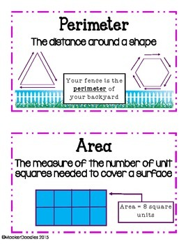 Go Math! 3rd grade Chapter 11 Resource Kit for Area and Perimeter