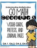 Go Math! 3rd grade Chapter 3 Resource Kit: Vocab cards, Pr