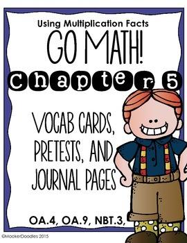 Go Math! 3rd grade Chapter 5 Resource Kit: Vocab cards, Pr