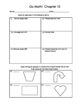 Go Math 4th Grade Ch 10 Problem of the Day Fluency Builder, Exit Ticket & Review