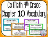 Go Math 4th Grade Chapter 10 Vocabulary