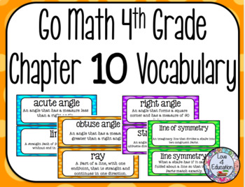 Go Math 4th Grade Chapter 10 Vocabulary