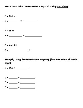 Go Math 4th Grade Chapter 2 Modified Review
