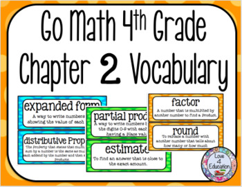 Go Math 4th Grade Chapter 2 Vocabulary