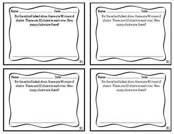 Go Math Chapter 3, Grade 4 Exit Slips (Low and High)