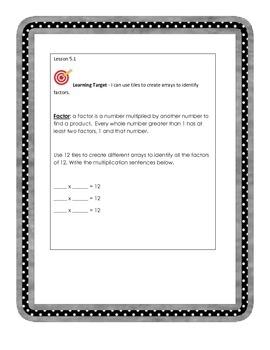 Go Math 4th Grade, Chapter 5 Bundle