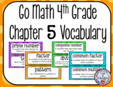 Go Math 4th Grade Chapter 5 Vocabulary
