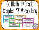 Go Math 4th Grade Chapter 7 Vocabulary