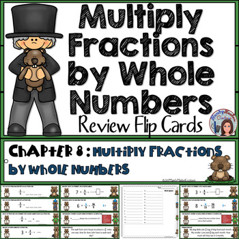 Go Math 4th Grade Multiply Fractions by Whole Numbers Math Center