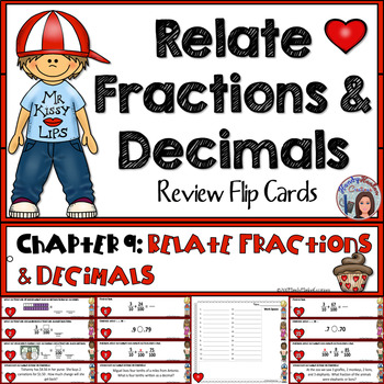 Go Math 4th Grade Relate Fractions and Decimals Math Center