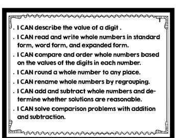 Go Math! 4th Grade Focus Wall