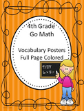 Go Math 4th Grade Full Page Colored Vocabulary Posters