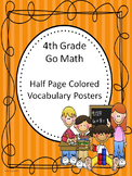 Go Math 4th Grade Half Page Colored Vocabulary Posters