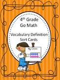 Go Math 4th Grade Journal Vocabulary Sort Cards