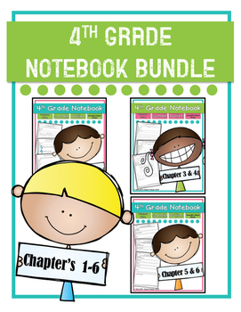 Go Math! 4th Grade Notebooks Chapter's 1-6 MINI BUNDLE