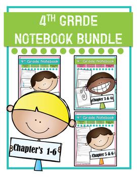 Go Math! 4th Grade Notebooks Chapter's 1-6 MINI BUNDLE