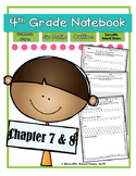Go Math! 4th Grade Notebook CC and I Can Statements Chapter 7 & 8