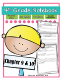 Go Math! 4th Grade Notebook CC and I Can Statements Chapter 9 & 10