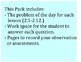 Go Math 4th Grade Problem of the Day Chapters 2-4 Worksheets and Assessment Tool