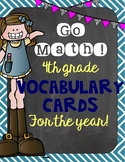 Go Math! 4th Grade Vocabulary Word Wall Cards for the WHOLE YEAR!