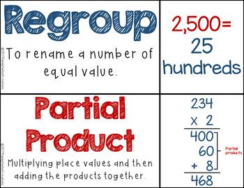 4th Grade Vocabulary & Math Centers