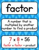 Go Math 4th Grade Vocabulary Packet - Chapters 1-5: Definitions, Examples