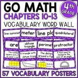 Go Math 4th Grade Vocabulary Packet Chapters 10-13