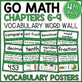 Go Math 4th Grade Vocabulary Packet Chapters 6-9