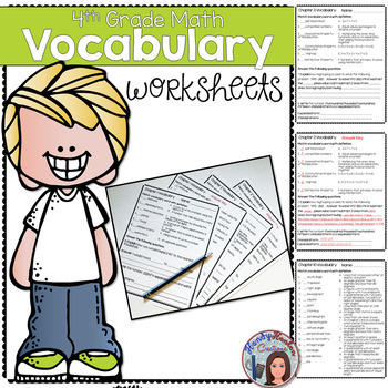Go Math 4th Grade Vocabulary Worksheets Chapters 1-13