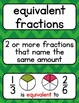 Go Math 4th Grade Vocabulary for the Year - Word Cards, De