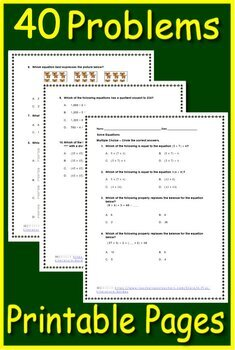 Go Math! Florida Grade 5 Chapter 1 Lessons 5 - 8:  40 Test Prep Multiple-Choice