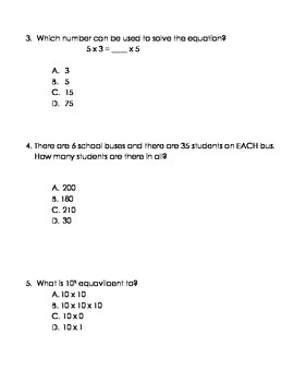 Go Math 5th Grade Chapter 1 Modified Test