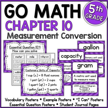 Go Math 5th Grade Chapter 10 Resource Packet - Convert Units of Measure