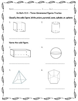Go Math - 5th Grade Chapter 11 - Geometry and Volume by ...