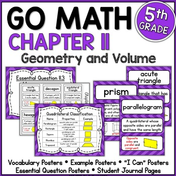 Go Math Chapter 11 5th Grade Resource Packet - Geometry an