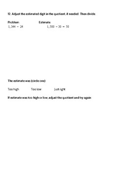 Go Math 5th Grade Chapter 3 Lesson 1 Practice and Homework with Spiral Review