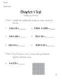Go Math 5th Grade Chapter 4 Test
