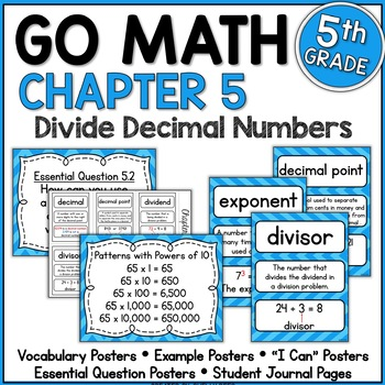 Go Math Chapter 5 5th Grade Resource Packet - Divide Decimals