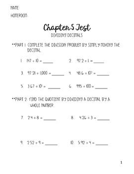 Go Math 5th Grade Chapter 5 Test