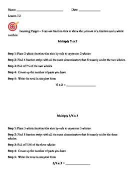 Go Math 5th Grade, Chapter 7 Modified Resource Bundle