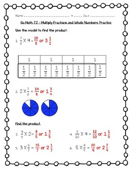 Go Math - 5th Grade Chapter 7 - Multiply Fractions