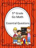 Go Math 5th Grade Essential Questions