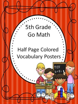 Go Math 5th Grade Half Page Colored Vocabulary Posters