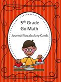 Go Math 5th Grade Journal Vocabulary Cards