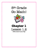 Go Math! 5th Grade  - Lesson 1.2 (Differentiated Page)