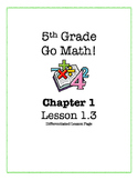 Go Math! 5th Grade  - Lesson 1.3 (Differentiated Page)