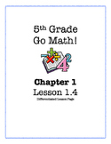 Go Math! 5th Grade - Lesson 1.4 (Differentiated Page)