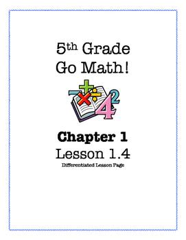 Go Math! 5th Grade - Lesson 1.4 (Differentiated Page)