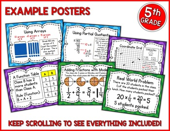 Go Math 5th Grade Resource Bundle for the Year - NON Common Core Version